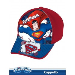 CAPPELLO C/VISIERA STAMPATA SUPERMAN