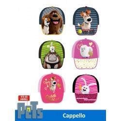 CAPPELLO C/VISIERA STAMPATA PETS
