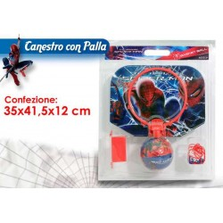 SET CANESTRO C/PALLA  SPIDERMAN
