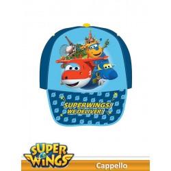 CAPPELLO C/VISIERA STAMPATA SUPER WINGS