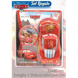 SET SVEGLIA + SALVADANAIO CARS