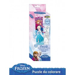 PUZZLE DA COLORARE 24 PZ FROZEN
