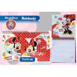 NOTEBOOK CON ANELLI MINNIE IN DISPLAY