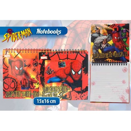 NOTEBOOK CON ANELLI SPIDERMAN IN DISPLAY