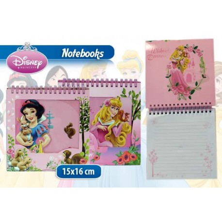 NOTEBOOK CON ANELLI PRINCESS IN DISPLAY