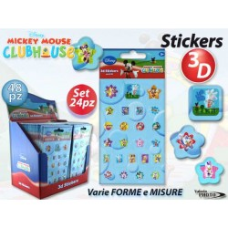 STICKERS MINI 3D MICKEY MOUSE 24PZ NS
