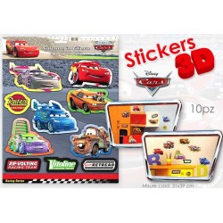 CARD STICKER 3D CARS 30X30       NS