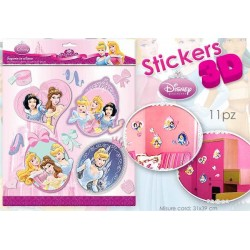 CARD STICKER 3D PRINCESS 30X30       NS