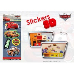 CARD STICKER 3D CARS 15.5X40     NS