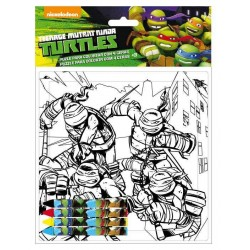 PUZZLE DA COLORARE C/COLORI TURTLES 9999