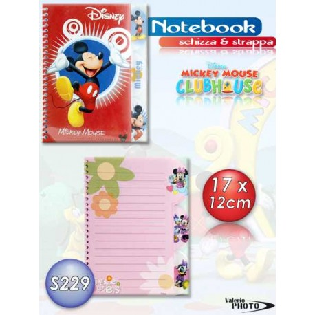 NOTEBOOK 5MM MICKEY 17X13 AS1260  NS
