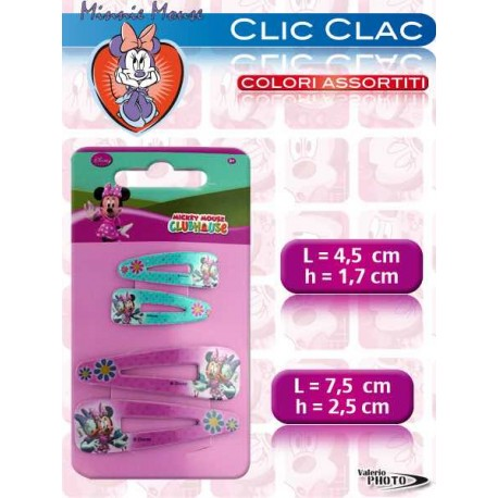 """CLIC CLAC MINNIE 2 COPPIE 3""""5""""        NS"""
